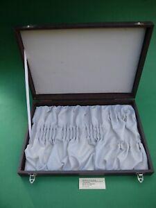 Besteck Etui 4 x 6 Essbesteck Besteckkasten DDR grau Messer Gabel Löffel leer