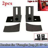 2pcs Windshield Driving LED Light Mount Bracket Kit For 07-14 Jeep Wrangler JK