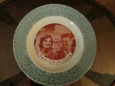 Vintage Mid Century President and Mrs John F Kennedy Collectors Plate 10""