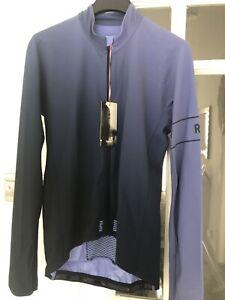 New Rapha PRO TEAM Long Sleeve Thermal Colourburn Jersey Blue/Navy - Medium