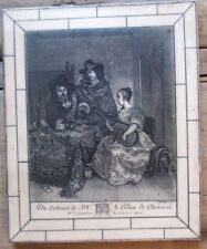 Balthasar Anton Dunker The Concert Du Cabinet de Mr le Duc de Choiseul Etching