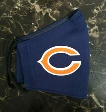 NFL Chicago Bears Mask Fabric Washable, Reusable Handmade It Has Filter
