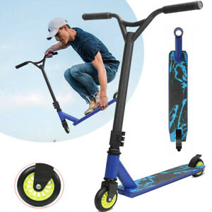 Adult Stunt Scooter 2 Wheel Street City Trick Push Scooter Fixed Bar 360 Degree