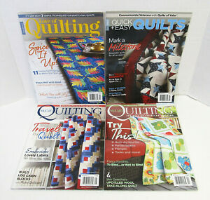 Lot 4 QUILT MAGAZINES 2021 Current LOVE OF QUILTING McCall's QUICK EASY QUILTS
