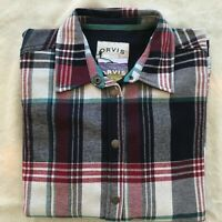 Orvis Ladies Flannel Shirt Jacket, Fleece Lined, sz Small, see measurements