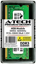 A-Tech 4GB PC3-12800 Laptop SODIMM DDR3 1600 MHz Memory RAM PC3L 4G 1.35V DDR3L