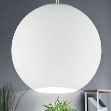 Pendel Kugel Decken Hänge Lampe Leuchte Glas weiss Wohn Ess Zimmer Big Light