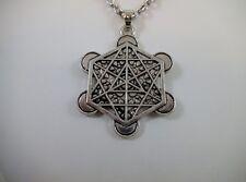 "Metatron Cube Pendant 24"" Neck Talisman Numerology Metaphysical Pagan Wicca"