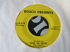 Bosco Presents, Russ Tamblyn  45 (MGM 57/58) Tom Thumb's Tune/ Now Or Never  VG+