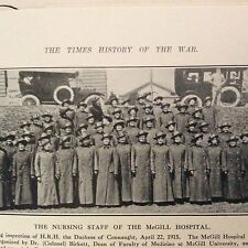 M1e ephemera ww1 picture  1915 nursing staff  mcgill hospital corps