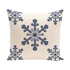 """E By Design Phn298Iv3-16 Vail Decorative Holiday Print Pillow, 16"""" by 16"""", Ivory"""