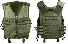 Olive Drab Green Military M.O.L.L.E Tactical MOLLE Modular Assault Vest 5405