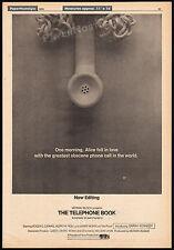THE TELEPHONE BOOK__Original 1970 Trade AD / poster__SARAH KENNEDY__Roger Carmel