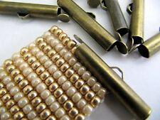 Bead Loom Slider Clasp, Bronze Color, 12 piece/6 Sets, 1 Inch