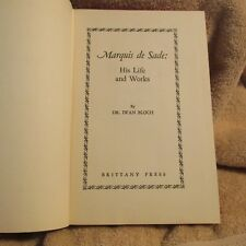 RARE Vintage  MARQUIS DE SADE his life and works by dr. iwan bloch