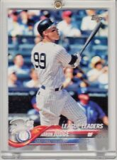 2018 Topps Aaron Judge League Leaders New York Yankees Run Batted In Stats