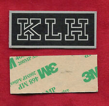 PAIR of NEW LOGO PLATES LABELS BADGES (LARGE) for KLH Speakers