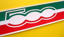 FIAT 500 Italian Flag Roof Stripe with '500 LOGO' style Decal Sticker