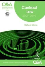 Q&A Contract Law 2009-2010 (Questions and Answers),Richard Stone