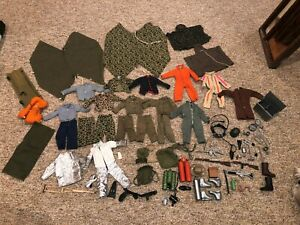 Lot of Vintage 1964 GI Joe Accessories and Clothes Uniforms