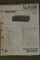 Service Manual für Sony TA-F319R