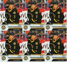 URHO VAAKANAINEN 6 CARD RC LOT 18-19 UPPER DECK AHL ROOKIE #58 PROVIDENCE BRUINS