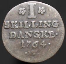 More details for 1764 | denmark frederik v 1 skilling | silver | coins | km coins