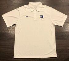 NWOT Men's Nike Duke Blue Devils Polo Shirt White Size L