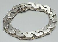 Extrem dick,schwer 835 Silber Armband matt. / A. Daub - Pforzheim 19,5 cm /A562