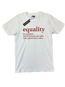 MISTER TEE Equality BLM Human Rights Tshirt Size S