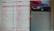 Prospekt audi s6 Limousine y avant para suiza, 7.1994, 40 p. + 2 hojas de precios