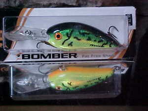 """Bomber FAT FREE SHAD BD6FRBCH /""""ROOTBEER CHARTREUSE/"""" for Bass//Pike//Walleye"""