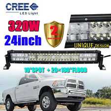 "CURVED 320W 24""INCH LED Combo Work Light Bar Offroad Driving Lamp 4WD 23/22"