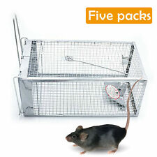 5Pc Rat Trap Cage Small Live Animal Pest Rodent Mouse Control Catch Hunting Trap
