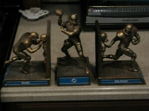 MIAMI DOLPHINS COLD-CAST BRONZE LEGACY BOOKENDS,BY BRADFORD EXCHANGE,LIMITED EDI