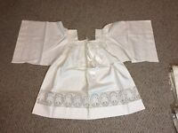 LINEN SURPLICE WITH LACE INSERT + SMALL VESTMENT