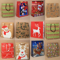 Pack of Assorted Medium Gift Bags Christmas Present Xmas Gift Bags Mixed Pack