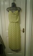 BNWT LADIES BEAUTIFUL GREEN POLKA DOT  COWL MIDI DRESS FROM OASIS SIZE 12