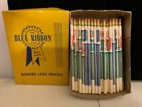 VINTAGE TEXACO / FEDERAL SUPERIOR FERTILIZER LEAD PENCILS (80) BLUE RIBBON LINE