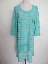 Kleid COMODO Tunika Spitze Häkelkleid 40 42 mint grün wie NEU /I2