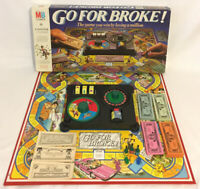 Go For Broke! Board Game 1985 MB Milton Bradley Vintage *Incomplete*
