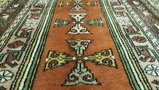 """Rare Antique 1930-1940s Wool Pile 5'7""""×8'8& #034; Vegy Dyes Oushak Rug For Collectors"""