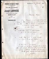 """MONTLUCON (03) Ets de TRAVAUX PUBLICS """"Joseph LABROSSE"""" en 1909"""
