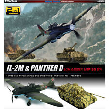 ACADEMY #12538 1/72 Plastic Model Kit/2 in 1 IL-2M & Panther D Special Aero Gift