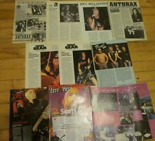Anthrax, Lot of Ten Full and Two Page Vintage Clippings