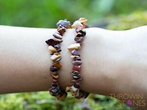 MOOKAITE JASPER Crystal Bracelet - Chip Beads - Beaded Handmade Jewelry, E1772