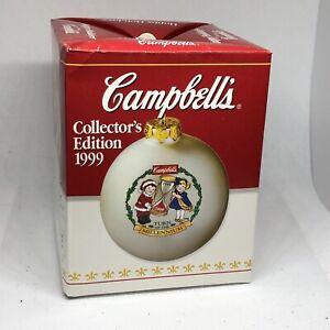 Vintage 1999 Campbells Soup Kids Collectors Edition Ball Ornament Millenium