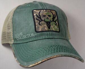 Hat Cap Licensed Bone Collector Tan Mesh Green Hunting OC