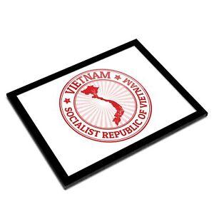 A3 Glass Frame - Socialist Republic Of Vietnam Travel Art Gift #9199