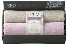 Plants Power Quality Organic Cotton Face Towel stone gray & lilac pair set Japan